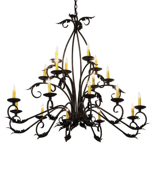 "56"" Long Windsor 18 Light Oblong Chandelier - Joskat Lighting"