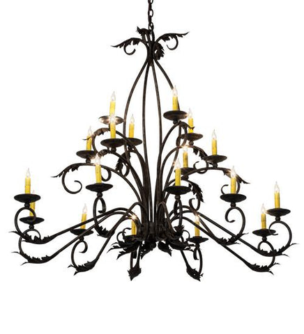"Image of 56"" Long Windsor 18 Light Oblong Chandelier"
