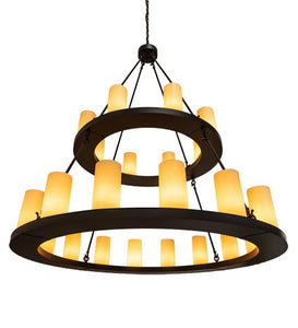 "54"" Wide Loxley 24 Light Two Tier Chandelier"