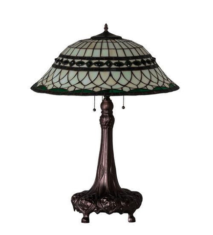 "Image of 31"" High Tiffany Roman Table Lamp"