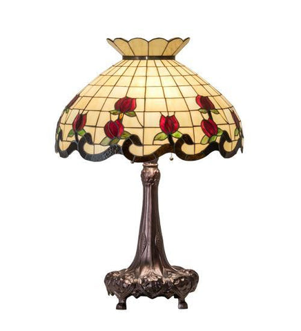 Image of rose floral design table lamp