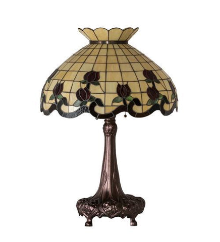 Image of floral table lamp