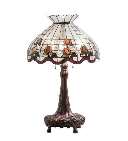 33 high roseborder table lamp