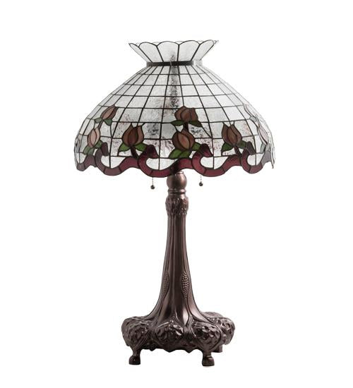 high roseborder table lamp