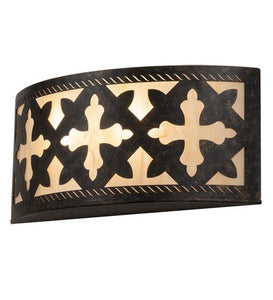 "18"" Wide Cardiff Wall Sconce"