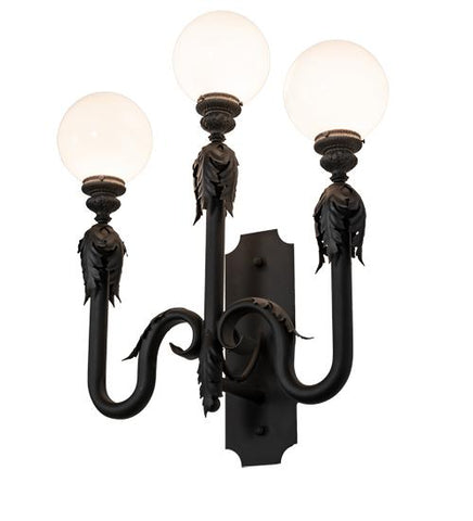 Image of 30″ Wide Strasbourg 3 Light Wall Sconce