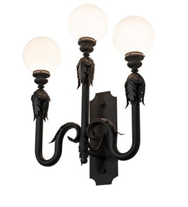 30″ Wide Strasbourg 3 Light Wall Sconce
