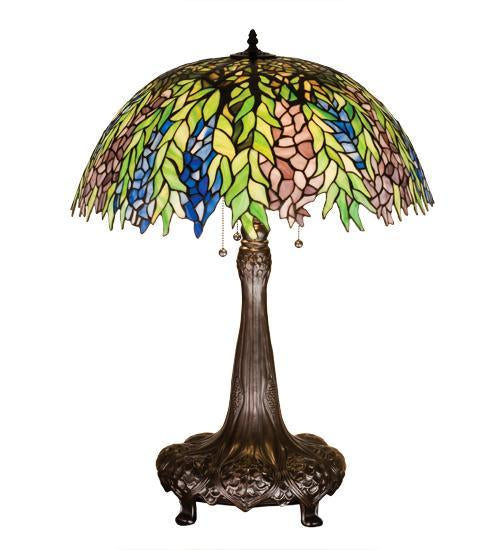 stained glass floral table lamp