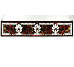 "57""W X 9.5""H Beveled Ellsinore Transom Stained Glass Window"
