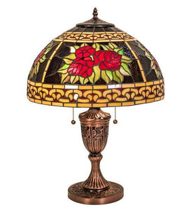 "25"" High Roses & Scrolls Table Lamp"
