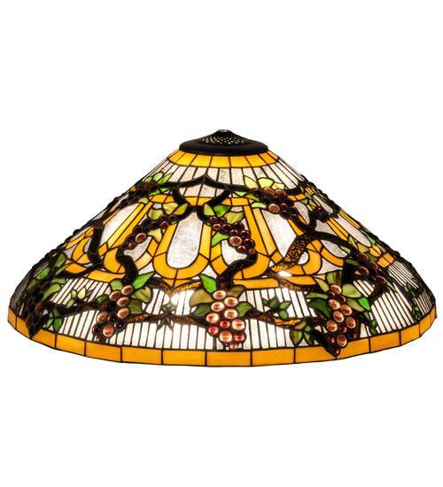 Wide Jeweled Grape lamp Shades