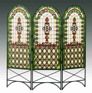 "60"" Wide X 58"" High Quatrefoil Classical Room Divider"