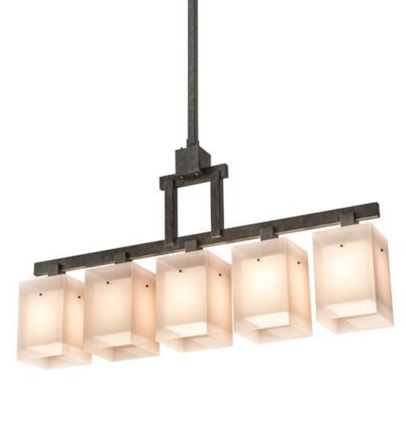 55″L Metro Quadrato 5 LT Pendant - Joskat Lighting