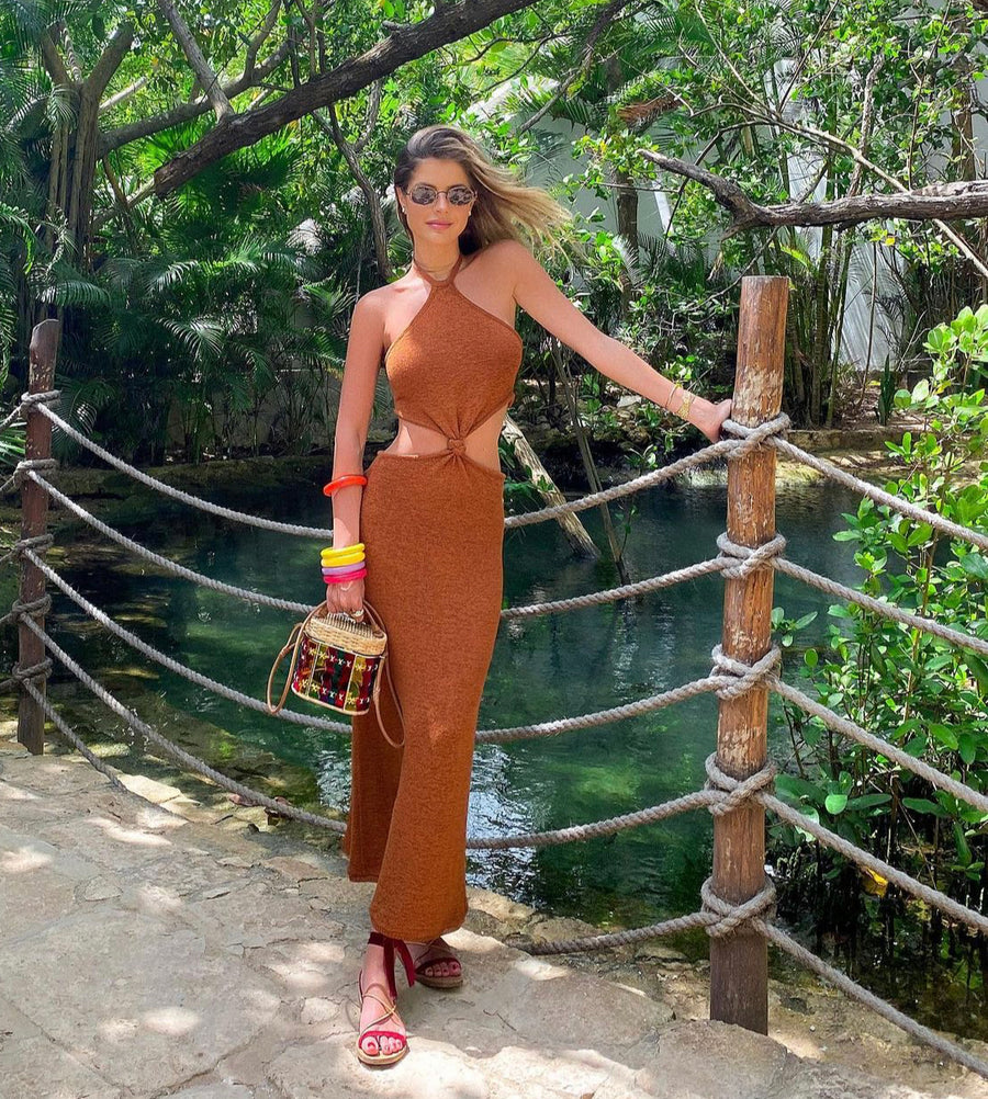 Ciara Vacationing in Marrakech Dress