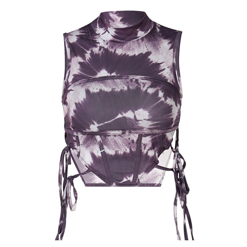 Lydia Dyed Ties Corset Top
