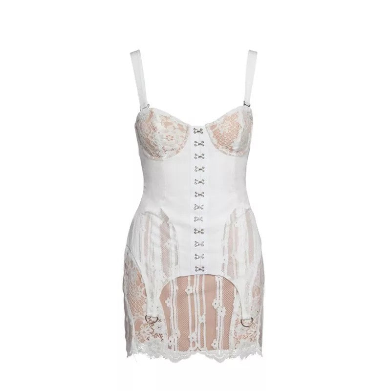 Kim Flirty Lace Corset Mini Dress