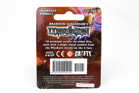 Mistborn Allomancy Dice