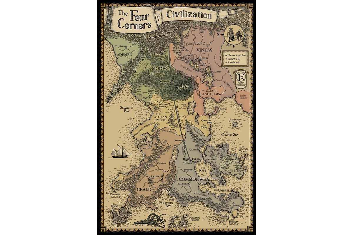Art - Anniversary Edition Four Corners Of Civilization Map
