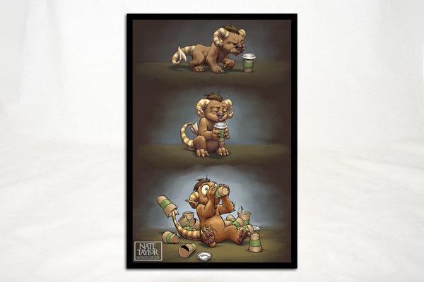 Art - Coffee Critter Triptych Print