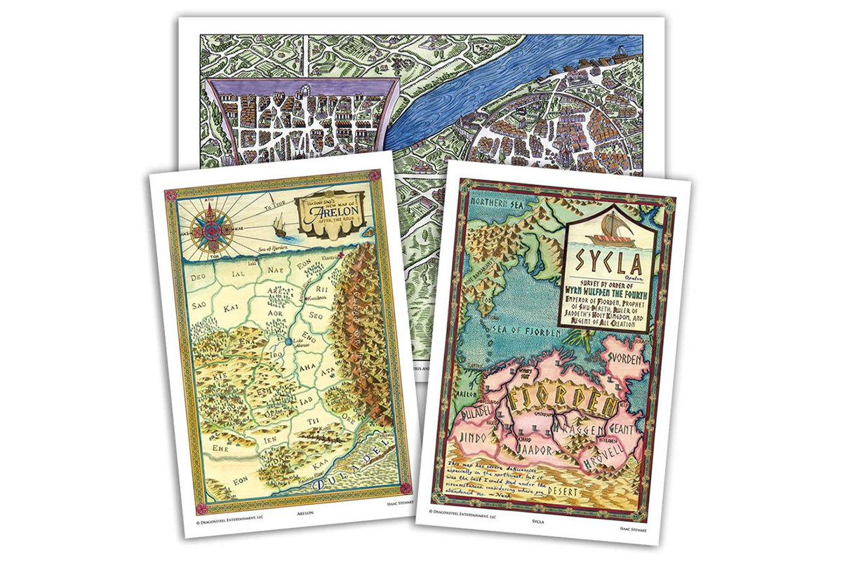 Art - Elantris Maps Set