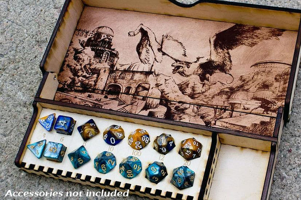 Games - Large Collapsible Dice Box And Tray