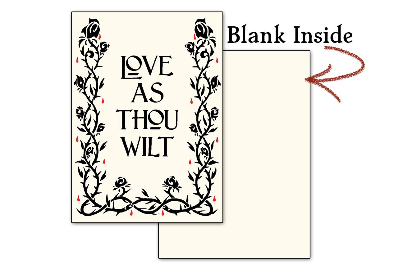 Greeting Card - Love As Thou Wilt Greeting Card