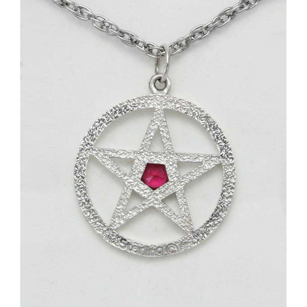 Jewelry - Harry Dresden's Pentacle Necklace With Ruby