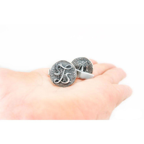 Jewelry - Lasciel's Blackened Denarius Cufflinks