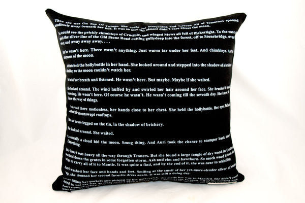Miscellany - Auri And The Moon Throw Pillow