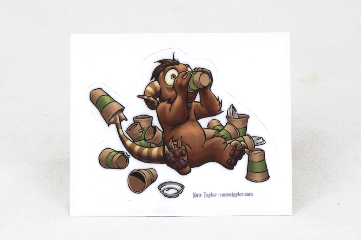 Miscellany - Coffee Critter Chug Sticker