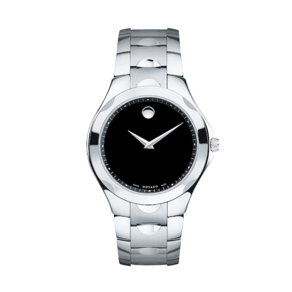 Movado Luno Black Museum Dial Men's Watch