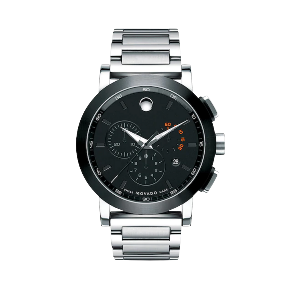 Movado Museum Chronograph Grey Dial Stainless Steel Men's Watch