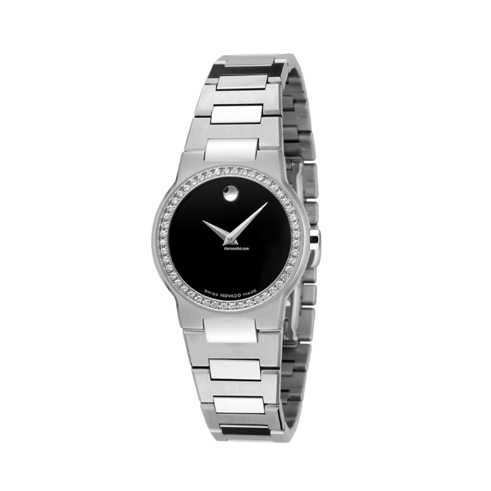 Movado Safiro Stainless Steel Quartz Diamond Ladies Watch
