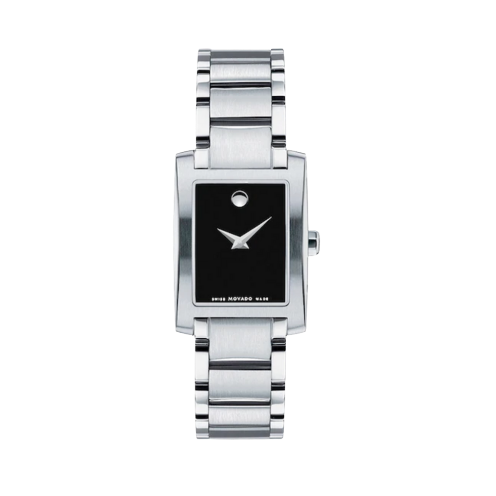 Movado Certe Quartz Black Dial Ladies Watch