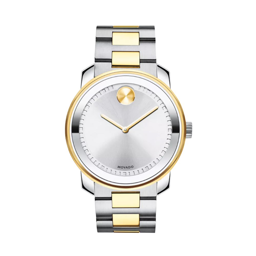 Movado Bold Silver Dial Two-tone Men's Watch