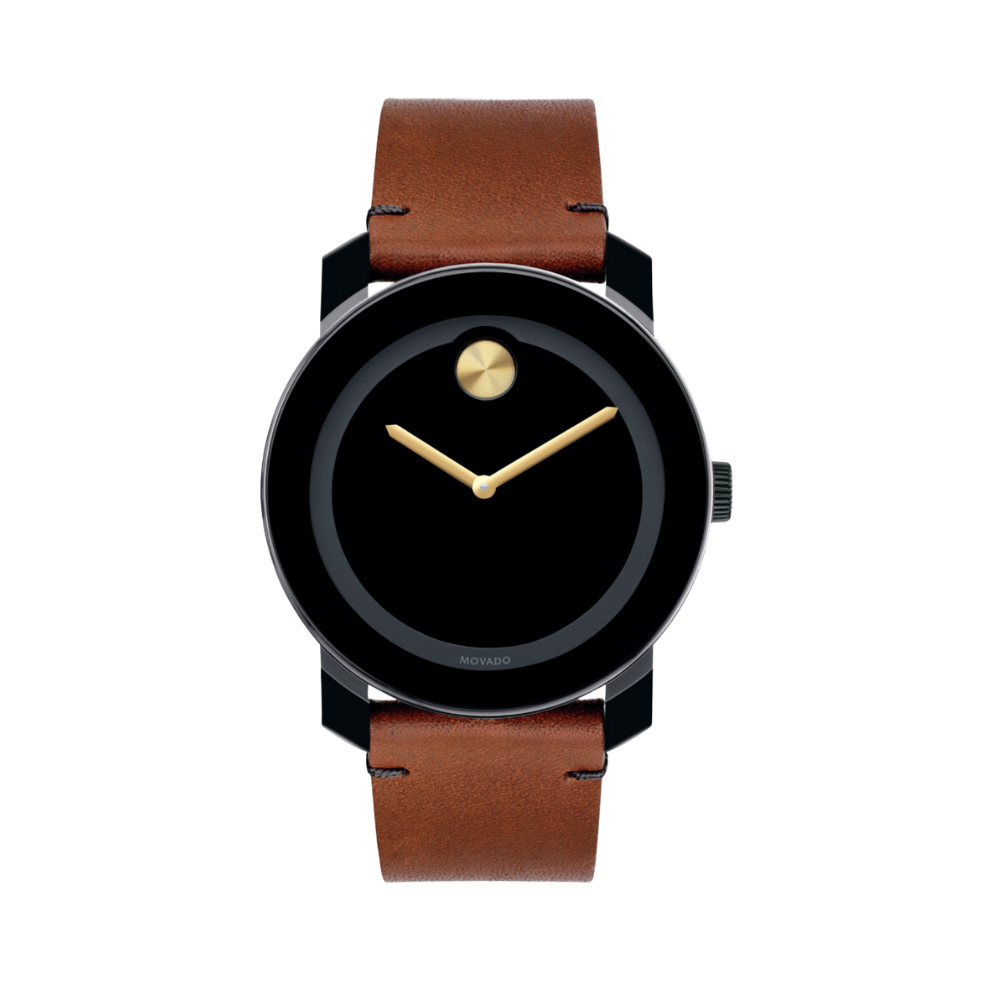 Movado Bold Black Museum Dial Men's Watch