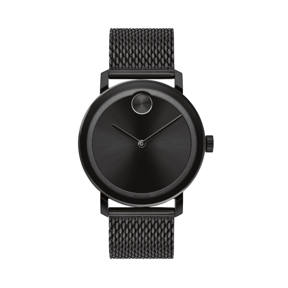 Movado Bold Black Dial Black Ion-plated Men's Watch