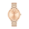 Movado Bold Rose Dial Rose Gold PVD Ladies Watch