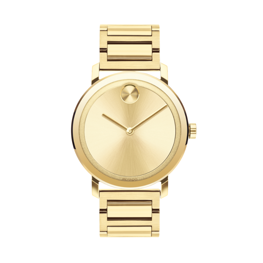 Movado Bold Gold Dial Yellow Gold Ion-plated Men's Watch