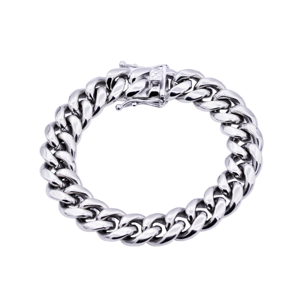 Stainless Steel 14mm Cuban Link Chain Bracelet