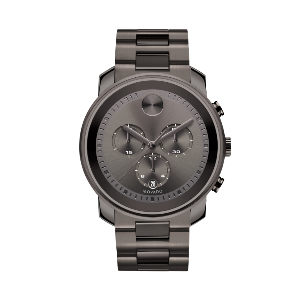 Movado Bold Chronograph Grey Sunray Dial Men's Watch