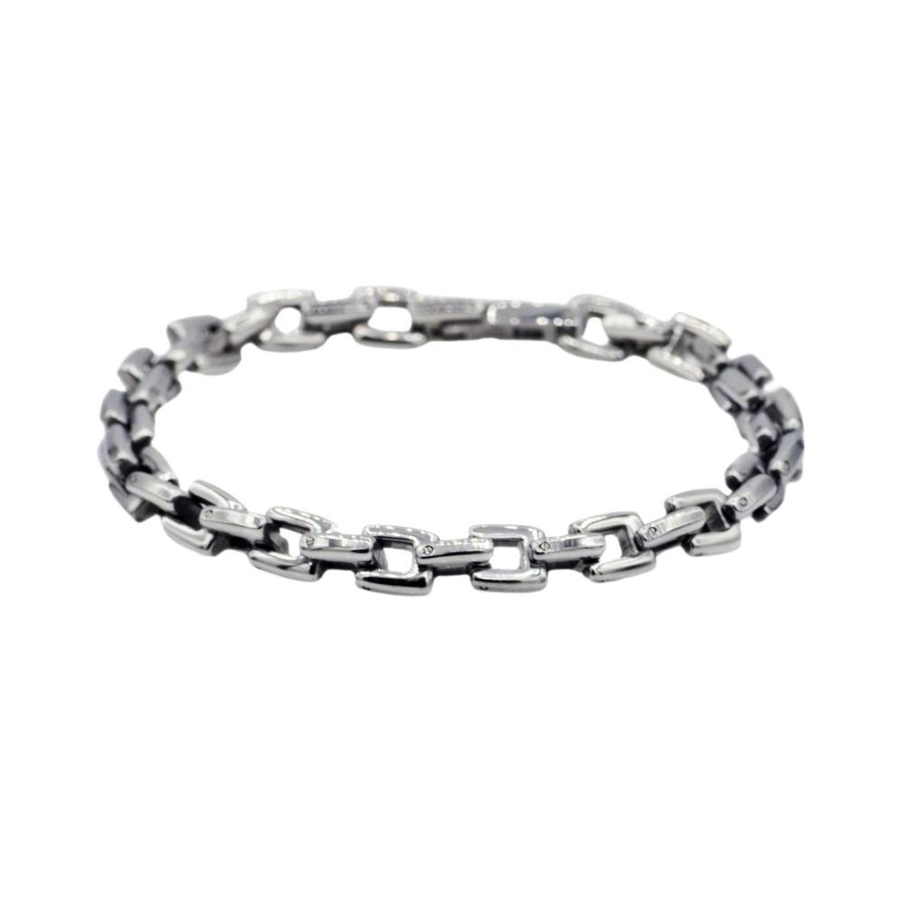 Stainless Steel Square Link Chain Bracelet