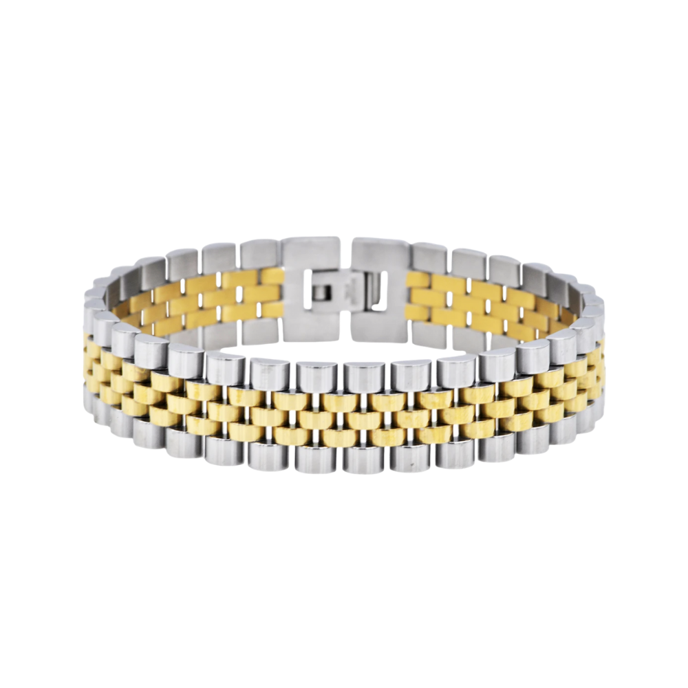 Gold Stainless Steel Watch Link Bracelet
