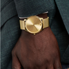 Movado Bold Quartz Gold Dial Yellow Gold Ion-plated Men's Watch