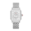 Michele Deco Madison Stainless Diamond Dial Watch