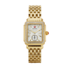 Michele Deco Mid 18K Gold Diamond Watch