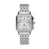 Michele Deco Stainless Diamond Watch