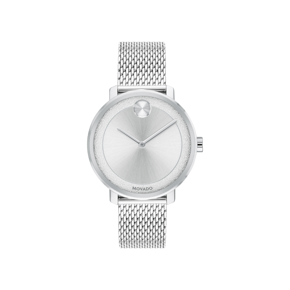 Movado Bold Silver Metallic Dial Ladies Watch