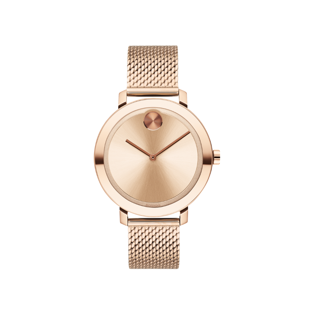 Movado Bold Quartz Rose Gold Dial Ladies Watch