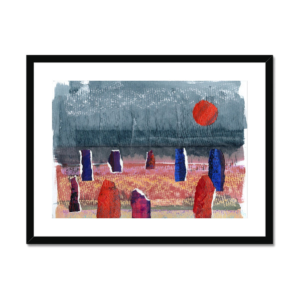 STONE CIRCLE mounted & framed print
